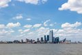 New jersey united states nj downtown skyline with hudson river Stock Photo