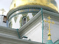 New jerusalem monastery the cathedral of the resurrection on picture — dome this is or novoiyerusalimsky Royalty Free Stock Photography