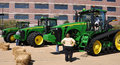 New john deere tractors people admiring shot this in in waterloo iowa Royalty Free Stock Photography