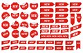 New label sticker. Newest angle tag, sales banner badge stickers and new tags vector set