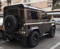 New landrover defender suv a jeep custom at street Royalty Free Stock Photos