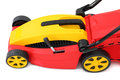 New lawn mower isolated over white background Stock Image
