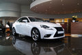 New lexus is beautiful white h Royalty Free Stock Photography