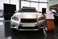 New lexus gs luxury silver in showroom Royalty Free Stock Photos