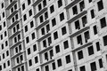 New living house facade made of gray concrete blocks is under construction Stock Images