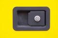 New lock and keyhole closeup Royalty Free Stock Photo