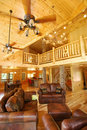 New Log House Interior Royalty Free Stock Images