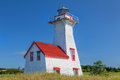 New london light range rear or lighthouse located in french river prince edward island canada Royalty Free Stock Photography