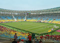 New maracana stadium for world cup inside of the fifa rio de janeiro brazil Royalty Free Stock Photos