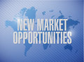 New market opportunities world map sign concept Royalty Free Stock Photo