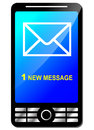 New message vector illustration of on modern phone Stock Photo
