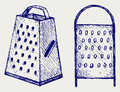 New metal grater Royalty Free Stock Photography