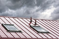 New metal roof with skylights Royalty Free Stock Photo