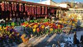 New mexico colorful market place near taos nm in the northen region of sangre de cristo mountain range area Stock Image
