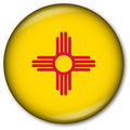 New Mexico State Flag Button Royalty Free Stock Photo