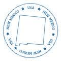 New Mexico vector map sticker.