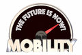 New Mobility the Future is Now Speedometer