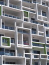 New modern architecture high rise apartment block with squares Royalty Free Stock Photo