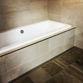 New modern bathroom with ceramic floor and walls Royalty Free Stock Image