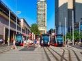 New Light Rail Trams, Circular Quay, Sydney, Australia Royalty Free Stock Photo