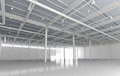 New modern empty storehouse huge light Royalty Free Stock Photography