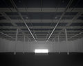 New modern empty storehouse huge light Stock Photo