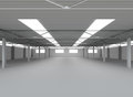 New modern empty storehouse huge light empty storehouse Royalty Free Stock Images