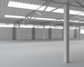New modern empty storehouse huge light empty storehouse Royalty Free Stock Photography