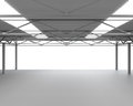 New modern empty storehouse huge light empty storehouse Stock Photo