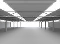 New modern empty storehouse huge light empty storehouse Stock Images
