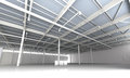 New modern empty storehouse huge light storehouse Stock Images