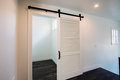 New Modern Home Unique Interior Sliding Barn Doors Royalty Free Stock Photo