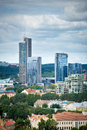 New modern skyscrapers in vilnius aug on aug the business harbour is a solid business centre the centre of Royalty Free Stock Images