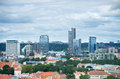New modern skyscrapers in vilnius aug on aug the business harbour is a solid business centre the centre of Royalty Free Stock Photography