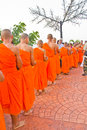 New monk in chiang mai, THAILAND Stock Photo
