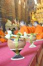 New Monk, Monks ordination ceremony -religious Royalty Free Stock Photos