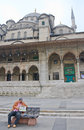 New mosque yeni camii istanbul view of Royalty Free Stock Images