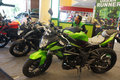 New motorcycles on display at a mall in the city of solo central java indonesia Stock Photo