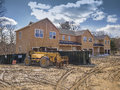 New multi family construction house framing in the suburbs Royalty Free Stock Photography