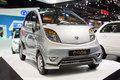 New nano car by tata at the th thailand international motor expo on december in bangkok thailand Royalty Free Stock Photography