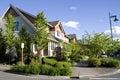New neighborhood houses nice with Royalty Free Stock Photography