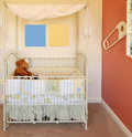 New nursery in home with crib Stock Photography