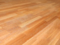New oak parquet of brown color Royalty Free Stock Image