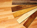New oak parquet of different colors Royalty Free Stock Photography