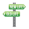 New or old life sign Royalty Free Stock Photos