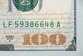 New one hundred dollar bill background Stock Photography