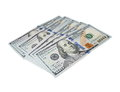 New one hundred dollar bill isolated Royalty Free Stock Photo
