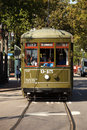 New orleans cable car tourist and locals traveling on the famous Royalty Free Stock Images