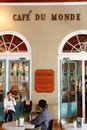 New Orleans Historic Cafe Du Monde Stock Foto