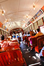 New Orleans Historic Street Car Riders Stock Photography